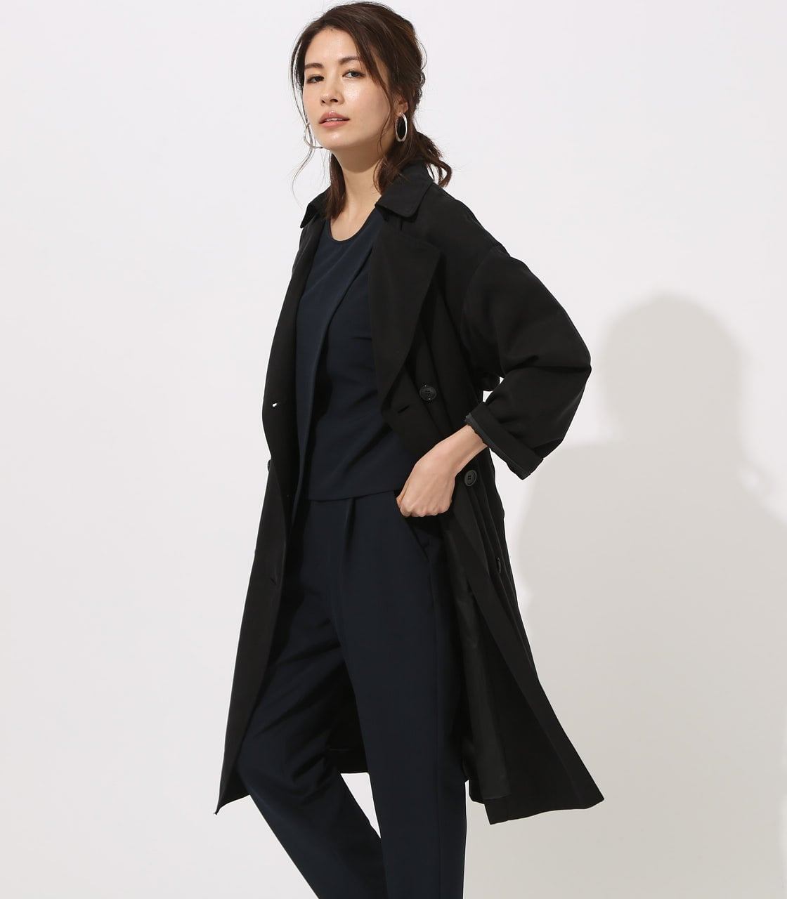 LYOCELL TRENCH COAT  詳細画像 BLK 1