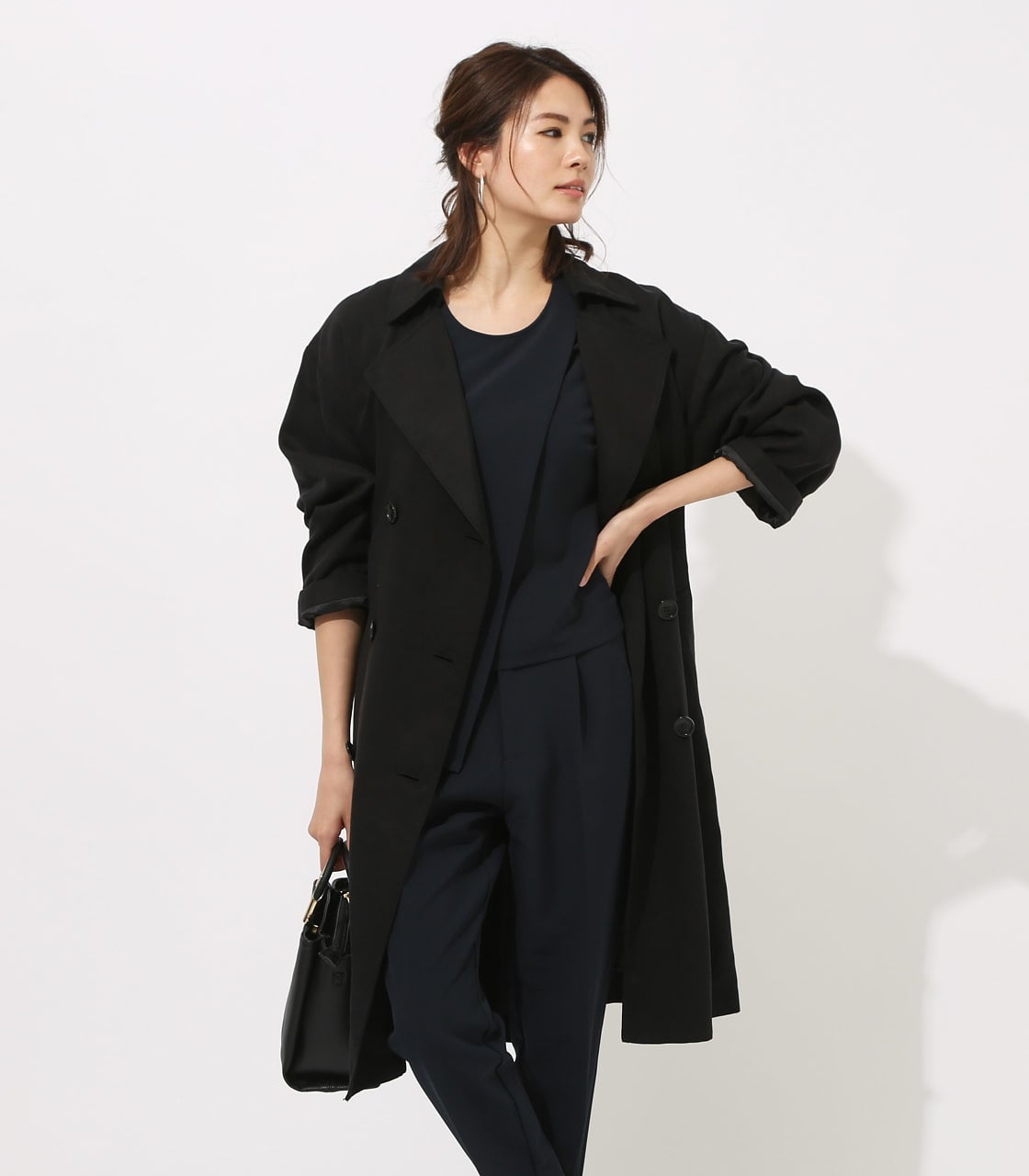 LYOCELL TRENCH COAT  詳細画像 BLK 2