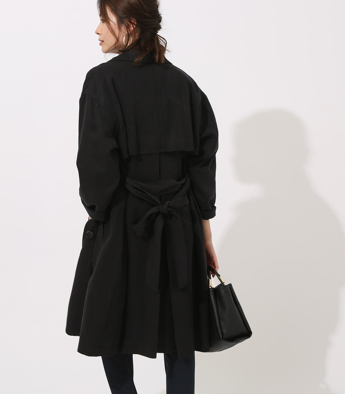 LYOCELL TRENCH COAT  詳細画像 BLK 4
