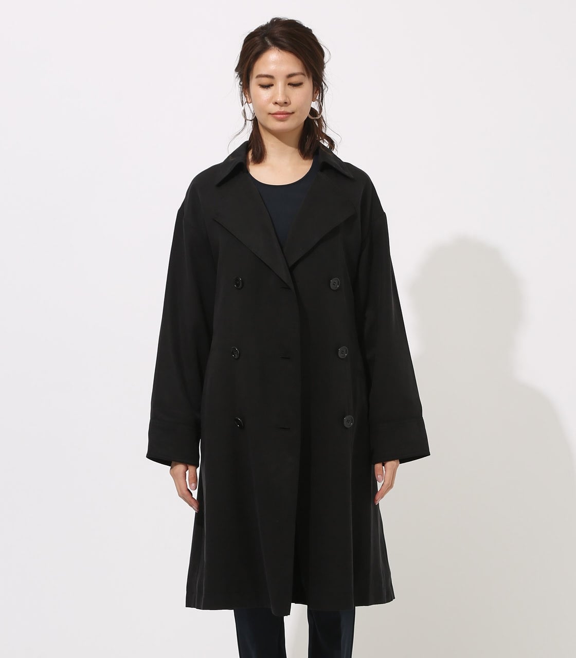 LYOCELL TRENCH COAT  詳細画像 BLK 5