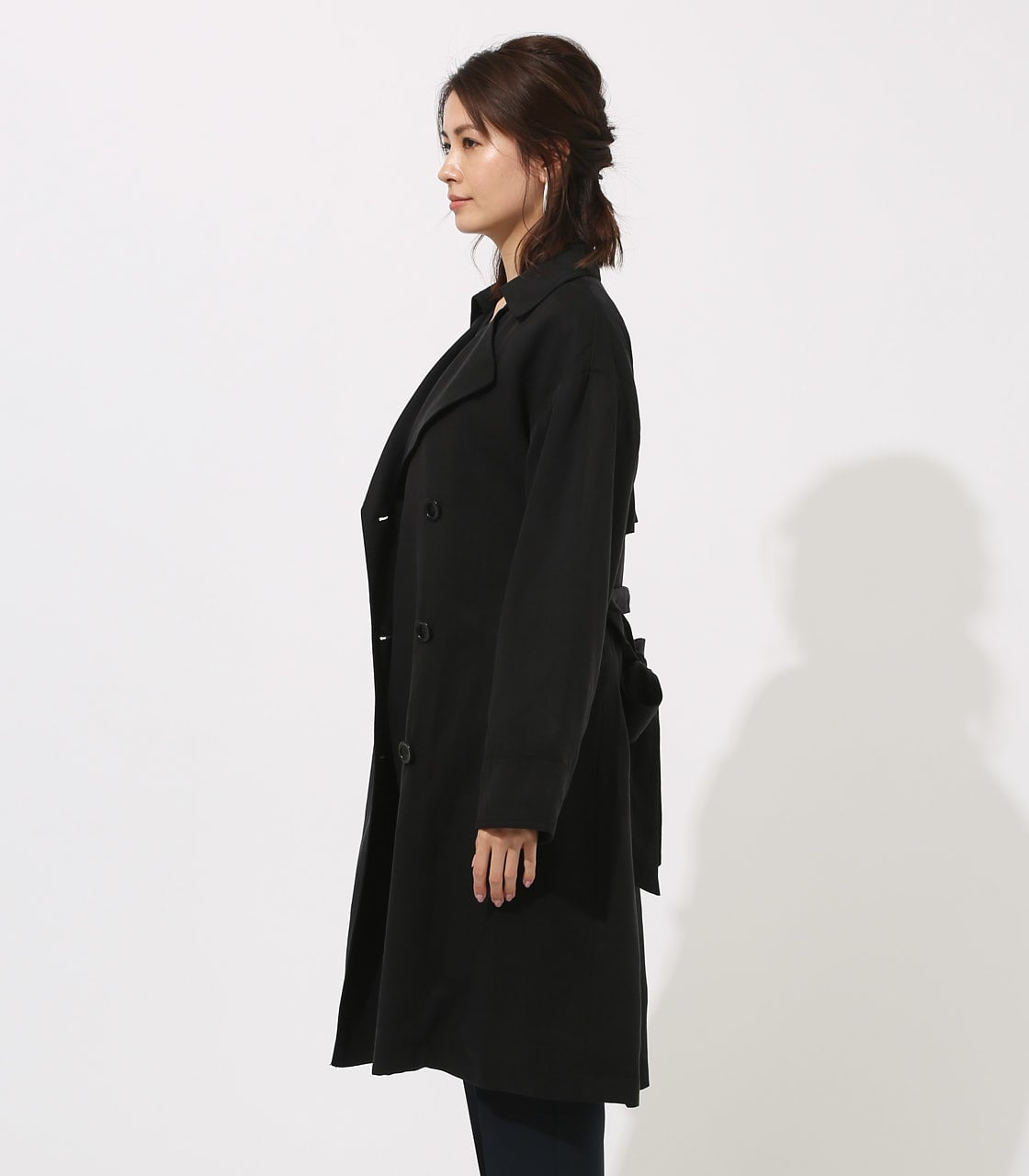 LYOCELL TRENCH COAT  詳細画像 BLK 6