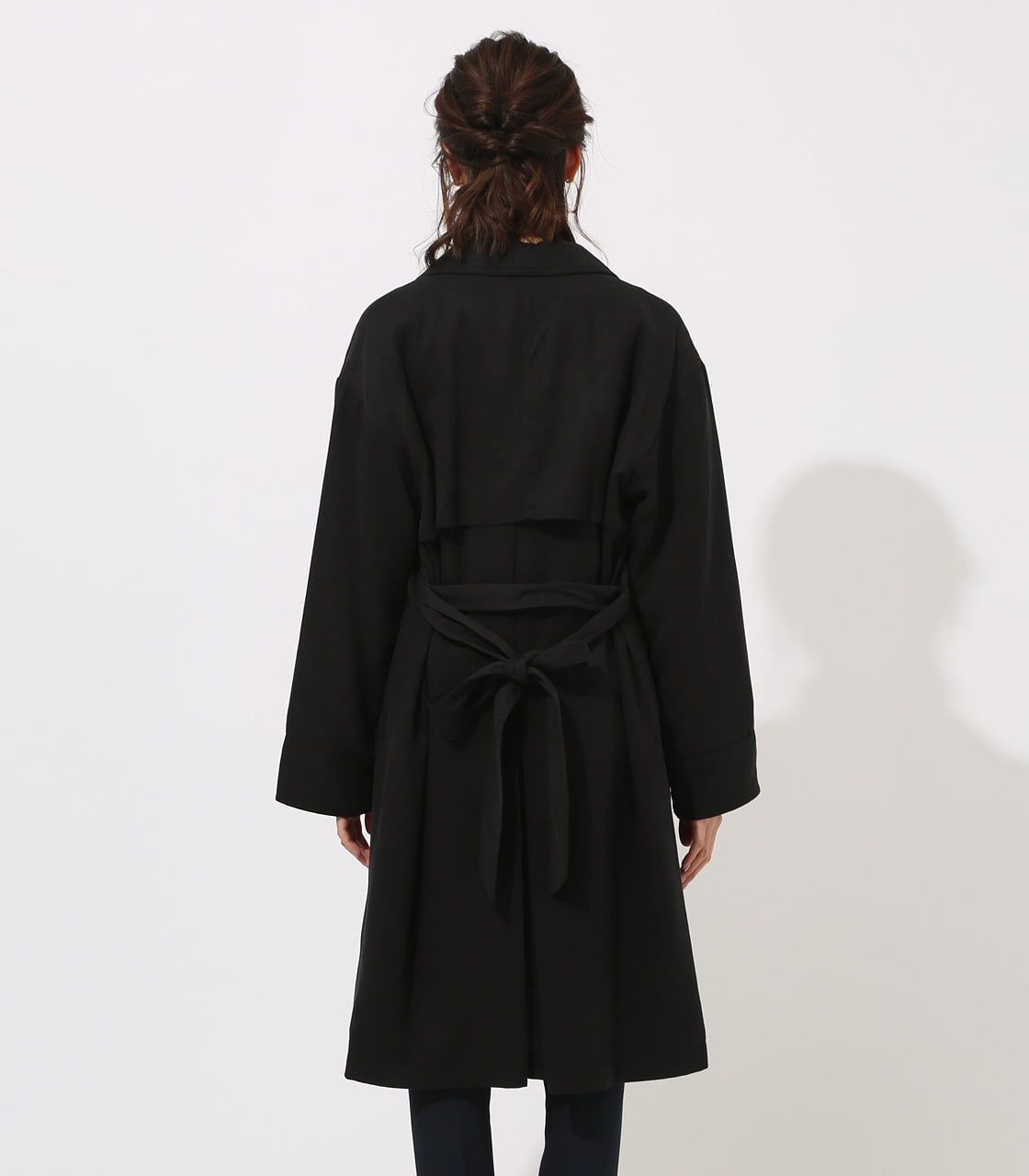 LYOCELL TRENCH COAT  詳細画像 BLK 7