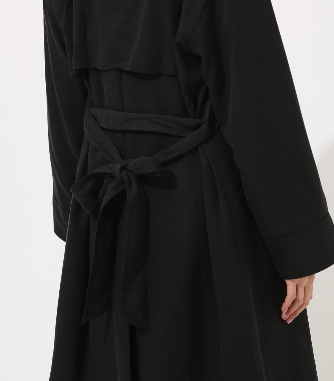 LYOCELL TRENCH COAT  詳細画像 BLK 8