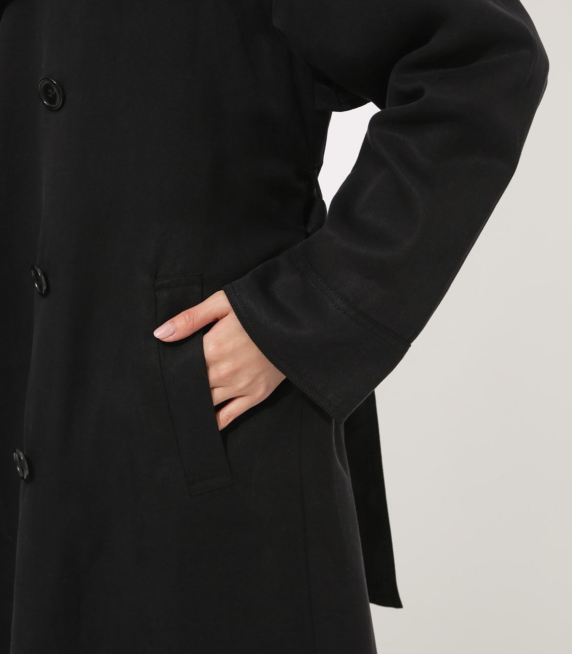 LYOCELL TRENCH COAT  詳細画像 BLK 9