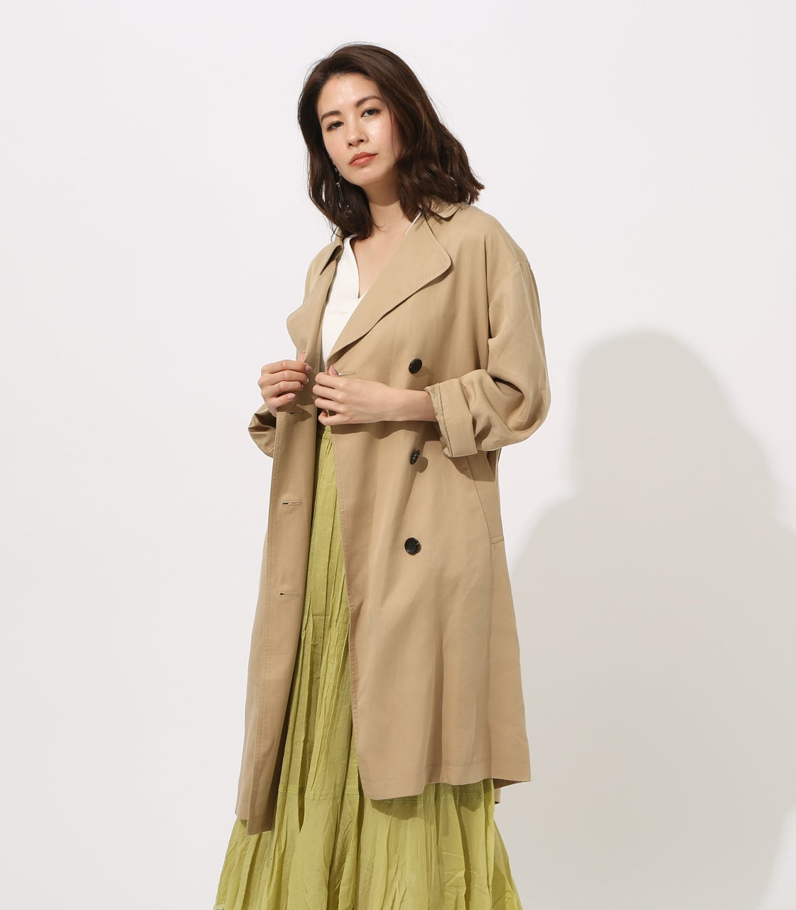 LYOCELL TRENCH COAT 【MOOK49掲載 90015】 詳細画像 BEG 1