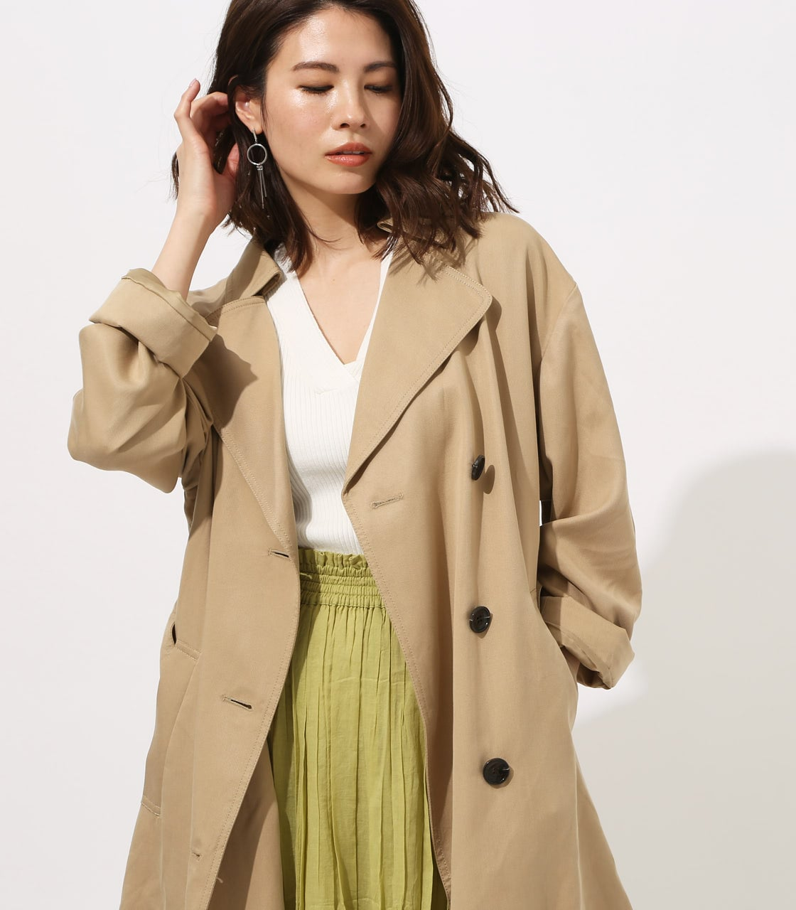 LYOCELL TRENCH COAT 【MOOK49掲載 90015】 詳細画像 BEG 2