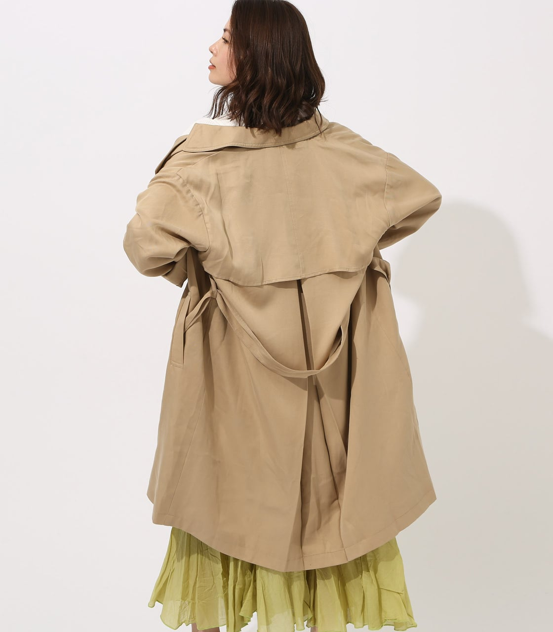LYOCELL TRENCH COAT 【MOOK49掲載 90015】 詳細画像 BEG 3
