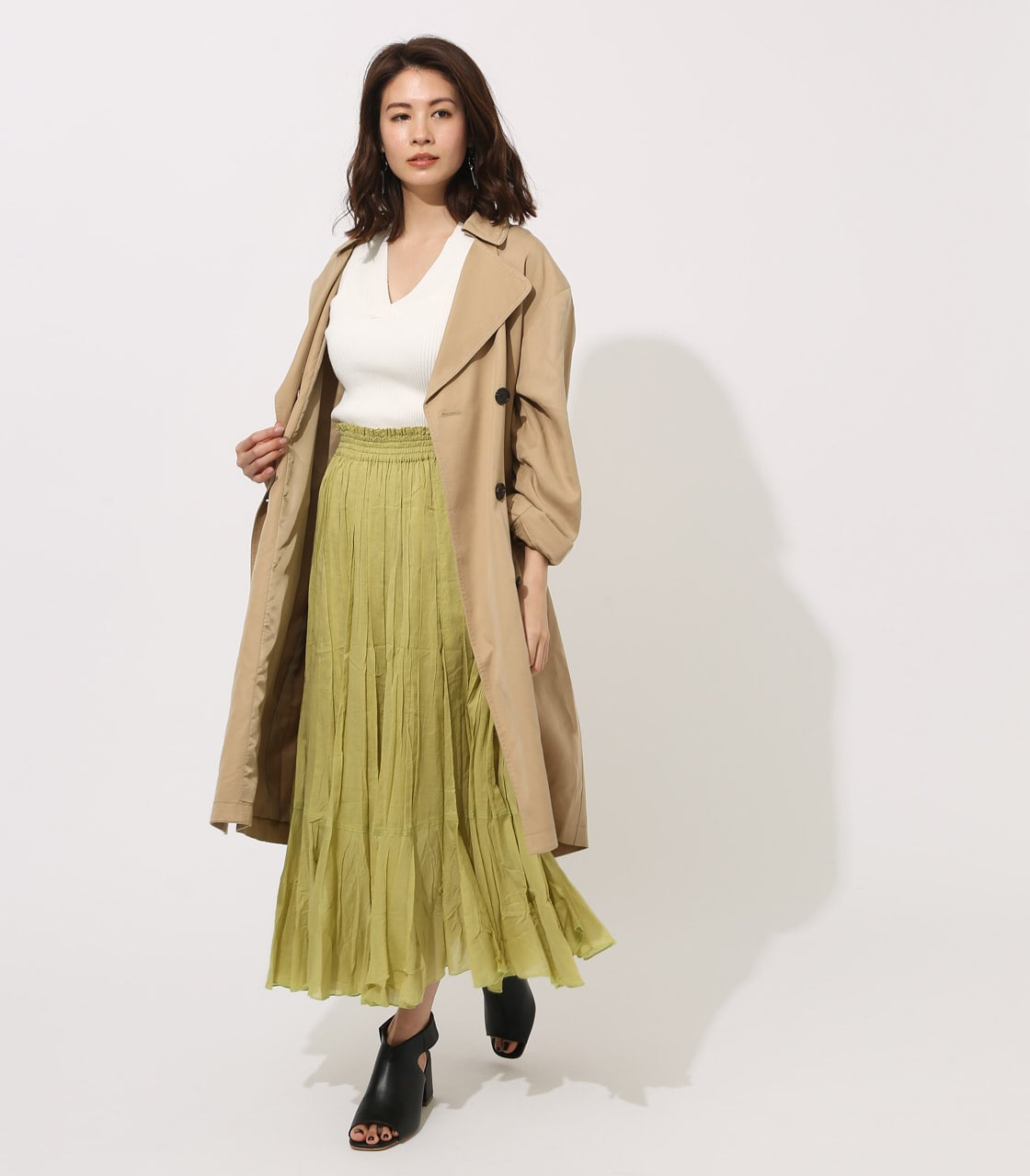 LYOCELL TRENCH COAT 【MOOK49掲載 90015】 詳細画像 BEG 4