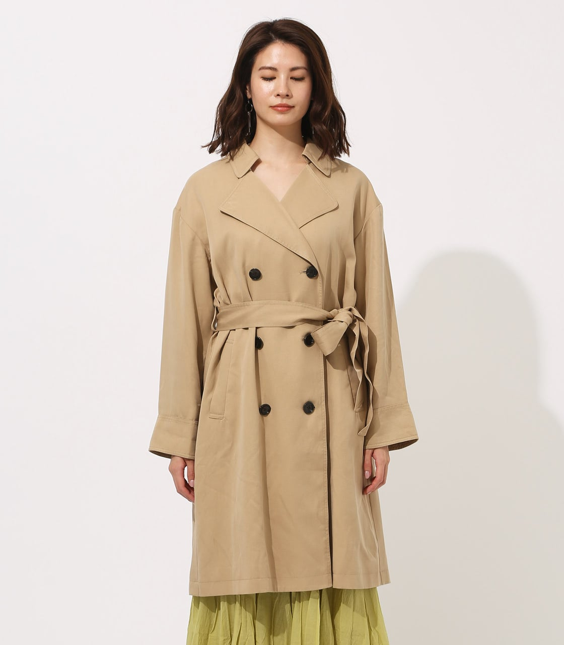 LYOCELL TRENCH COAT 【MOOK49掲載 90015】 詳細画像 BEG 5