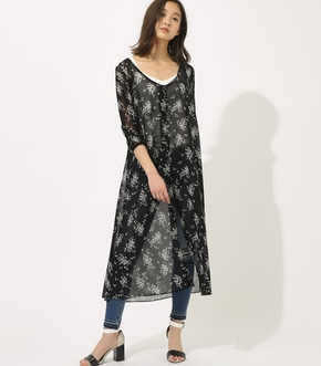 【AZUL BY MOUSSY】FLOWER SHIFFON GOWN 【MOOK49掲載 90042】