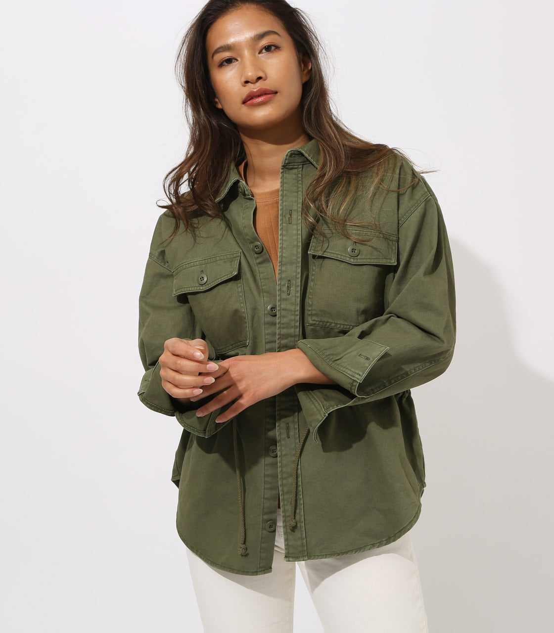 【AZUL BY MOUSSY】Military Blouson 詳細画像 L/KHA 1