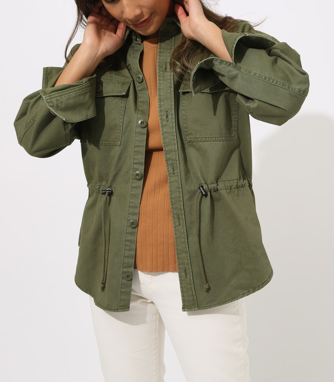 【AZUL BY MOUSSY】Military Blouson 詳細画像 L/KHA 3