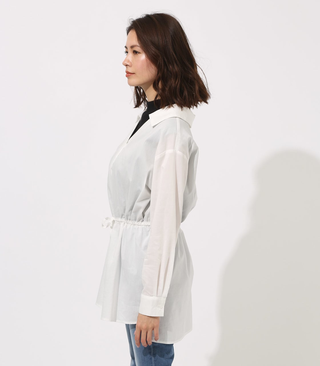 【AZUL BY MOUSSY】Waist shirring layered blouse 詳細画像 O/WHT 6