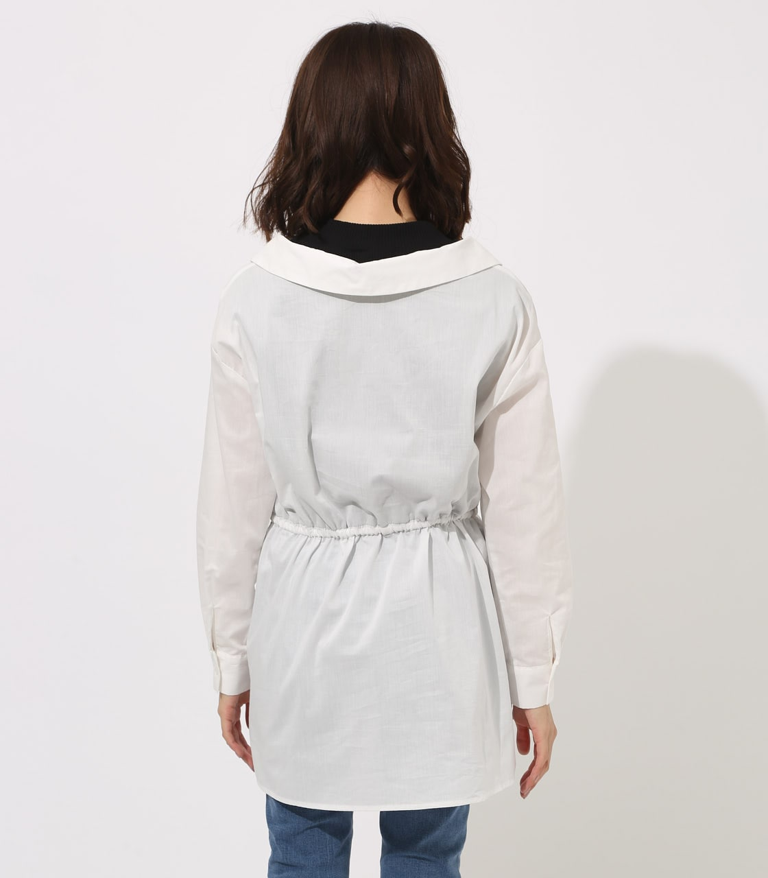 【AZUL BY MOUSSY】Waist shirring layered blouse 詳細画像 O/WHT 7