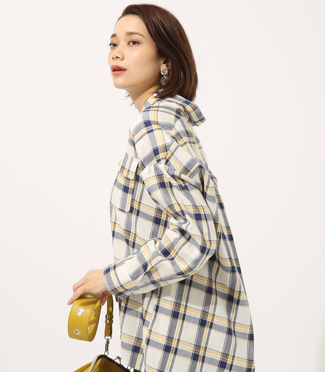 【AZUL BY MOUSSY】MADRAS CHECK SHIRT【MOOK50掲載 90135】 詳細画像 柄WHT 2