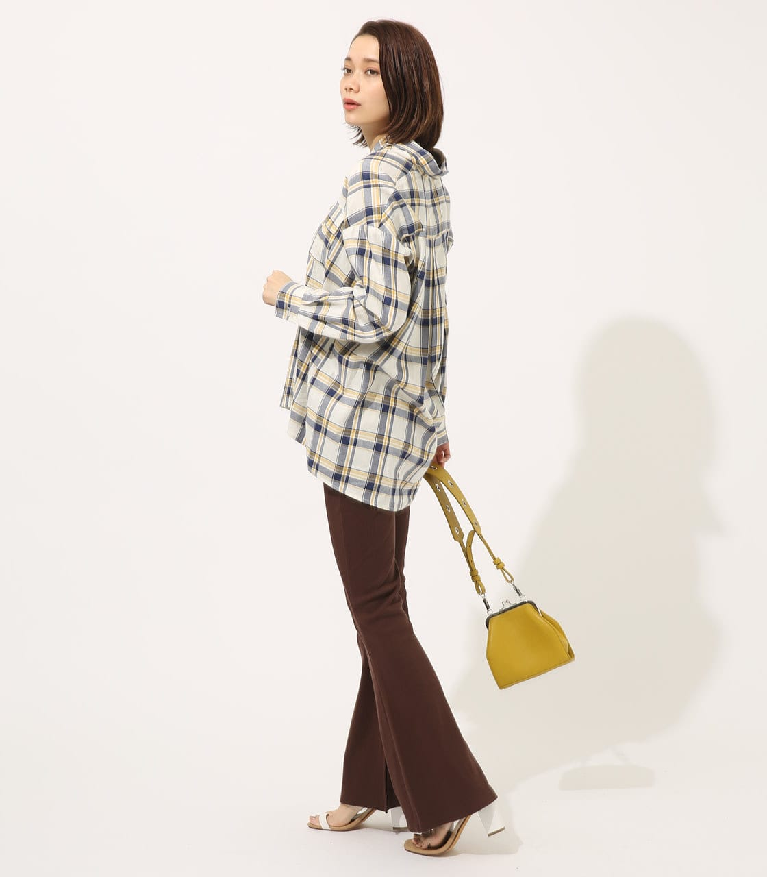 【AZUL BY MOUSSY】MADRAS CHECK SHIRT【MOOK50掲載 90135】 詳細画像 柄WHT 3