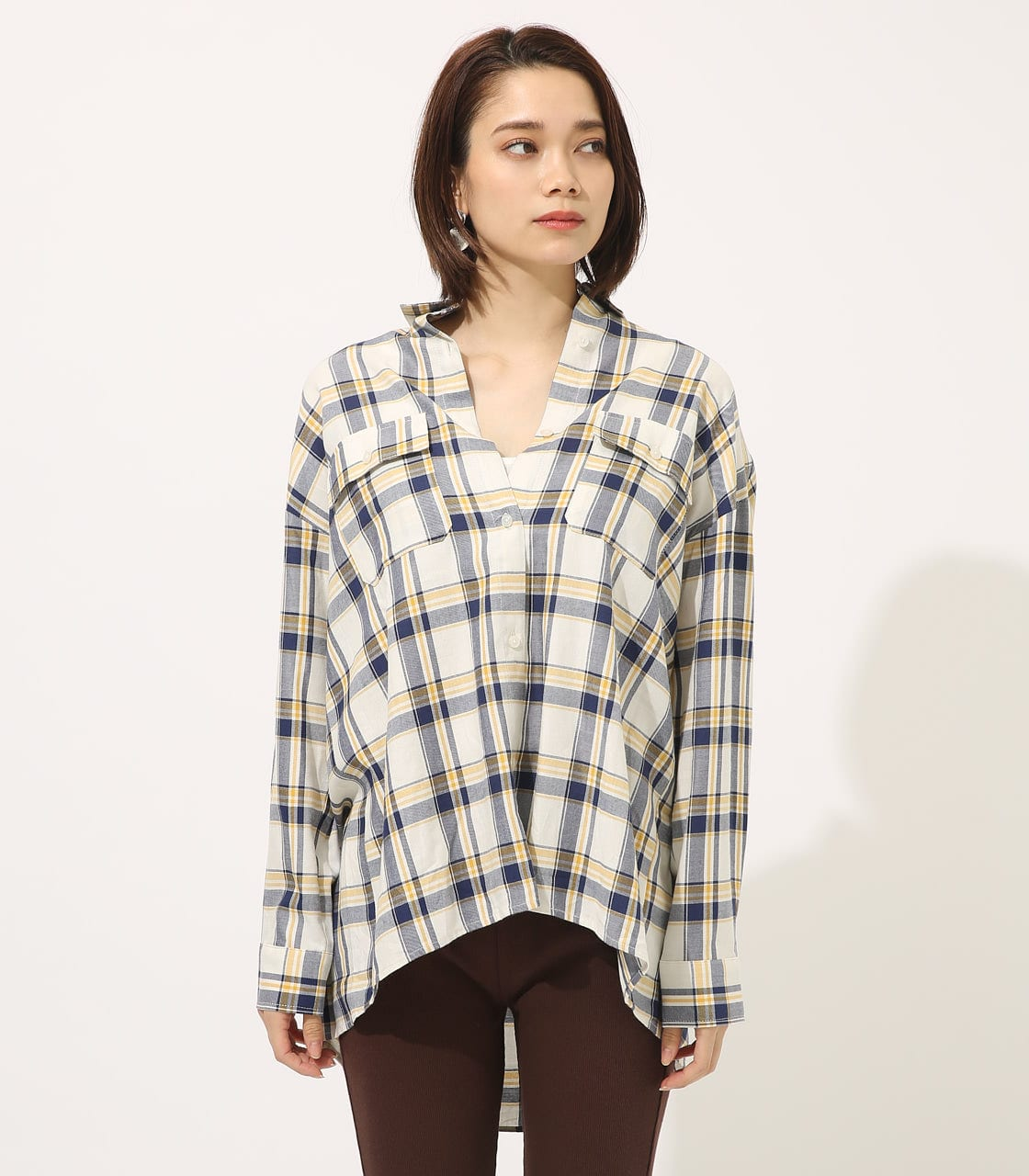 【AZUL BY MOUSSY】MADRAS CHECK SHIRT【MOOK50掲載 90135】 詳細画像 柄WHT 4