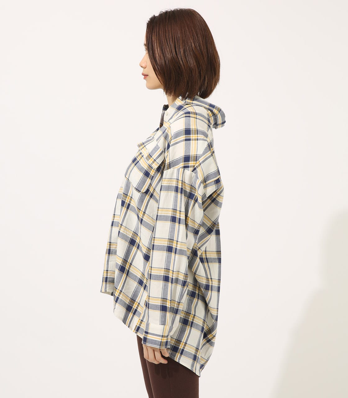 【AZUL BY MOUSSY】MADRAS CHECK SHIRT【MOOK50掲載 90135】 詳細画像 柄WHT 5