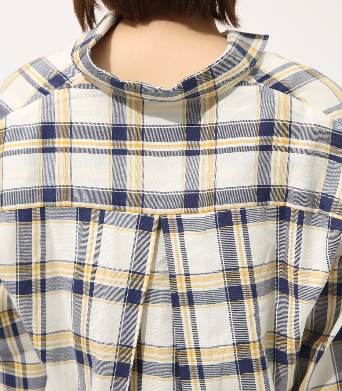 【AZUL BY MOUSSY】MADRAS CHECK SHIRT【MOOK50掲載 90135】 詳細画像 柄WHT 8