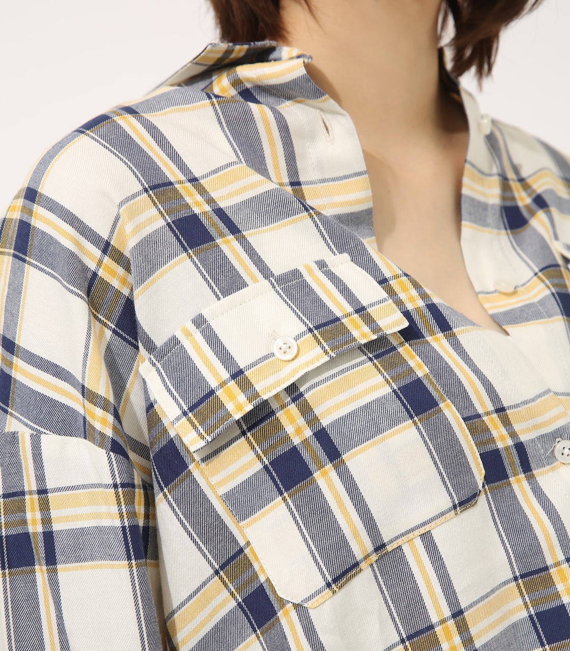 【AZUL BY MOUSSY】MADRAS CHECK SHIRT【MOOK50掲載 90135】 詳細画像 柄WHT 9