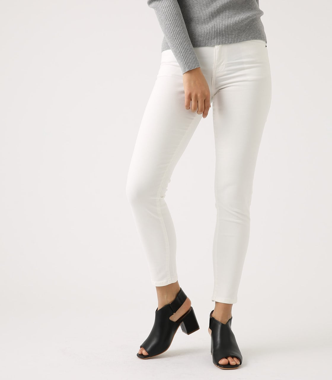 【AZUL BY MOUSSY】Color peach skinny 詳細画像 WHT 1
