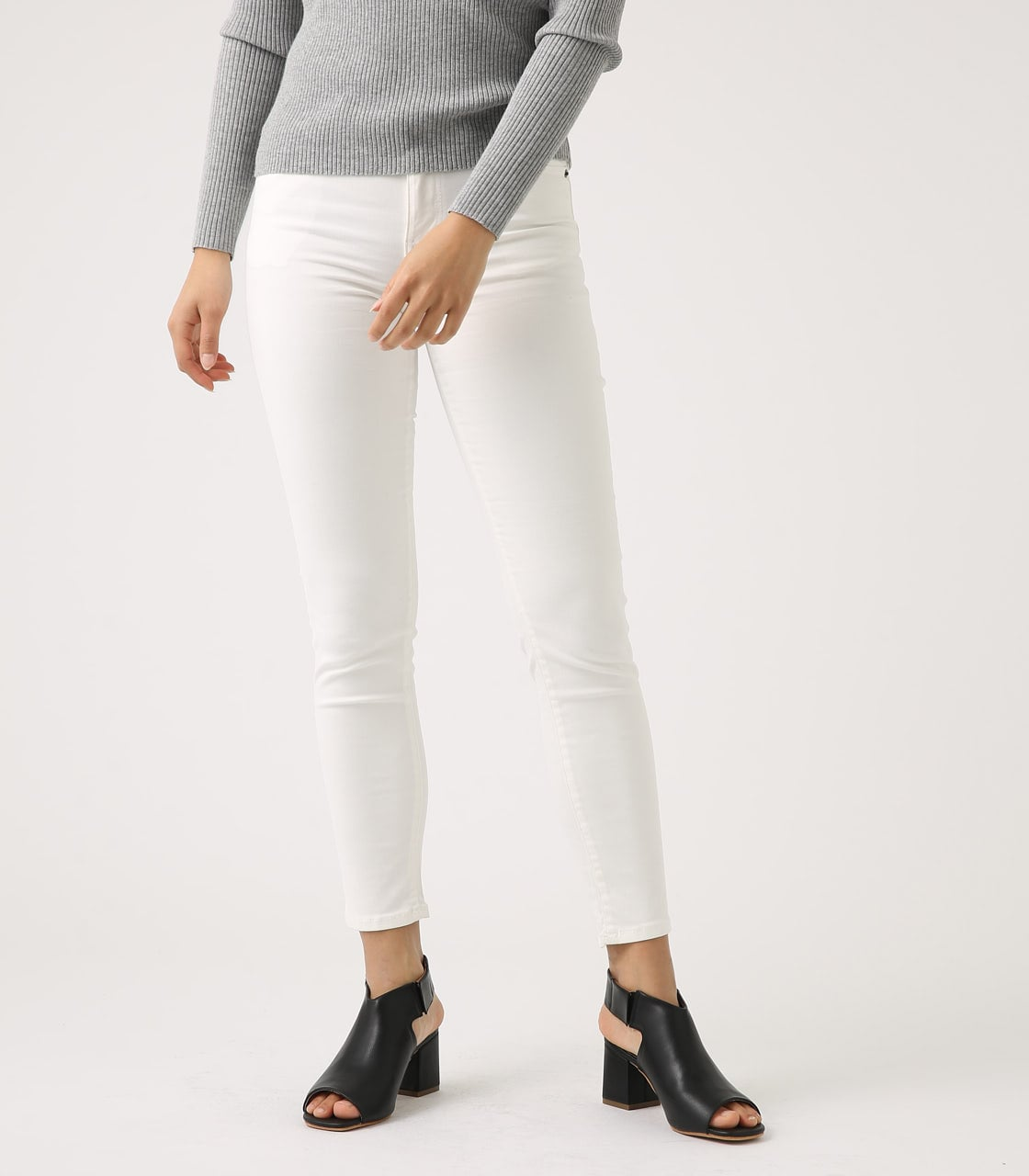 【AZUL BY MOUSSY】Color peach skinny 詳細画像 WHT 5