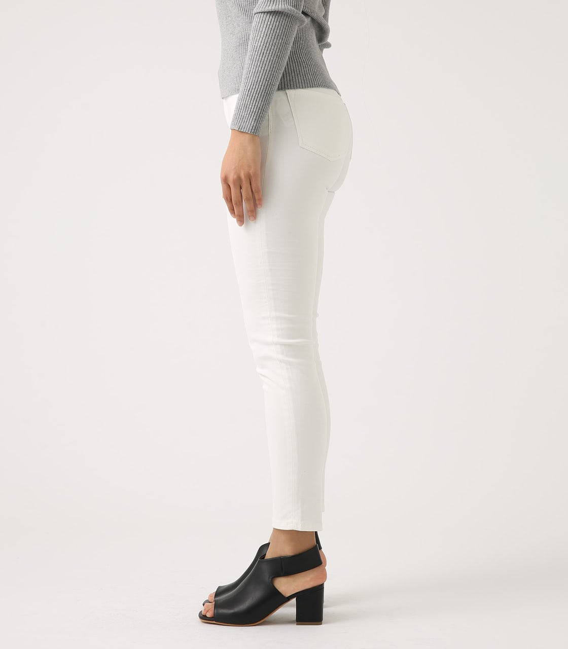 【AZUL BY MOUSSY】Color peach skinny 詳細画像 WHT 6