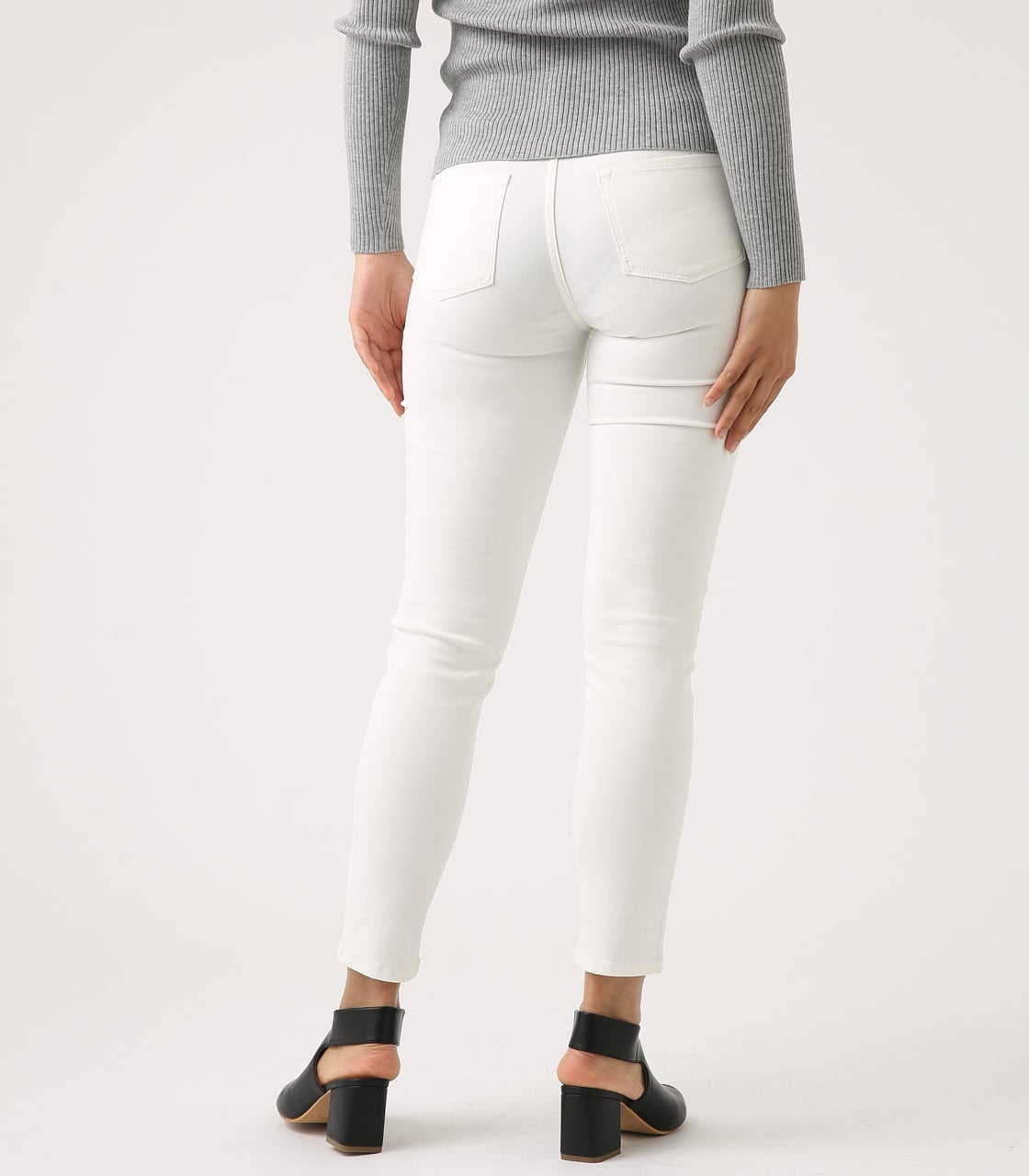 【AZUL BY MOUSSY】Color peach skinny 詳細画像 WHT 7