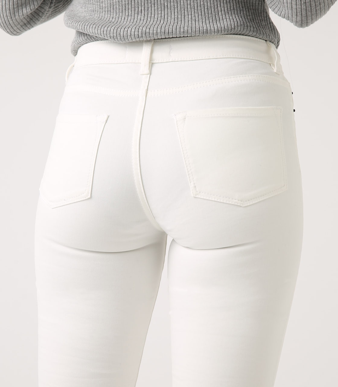 【AZUL BY MOUSSY】Color peach skinny 詳細画像 WHT 9