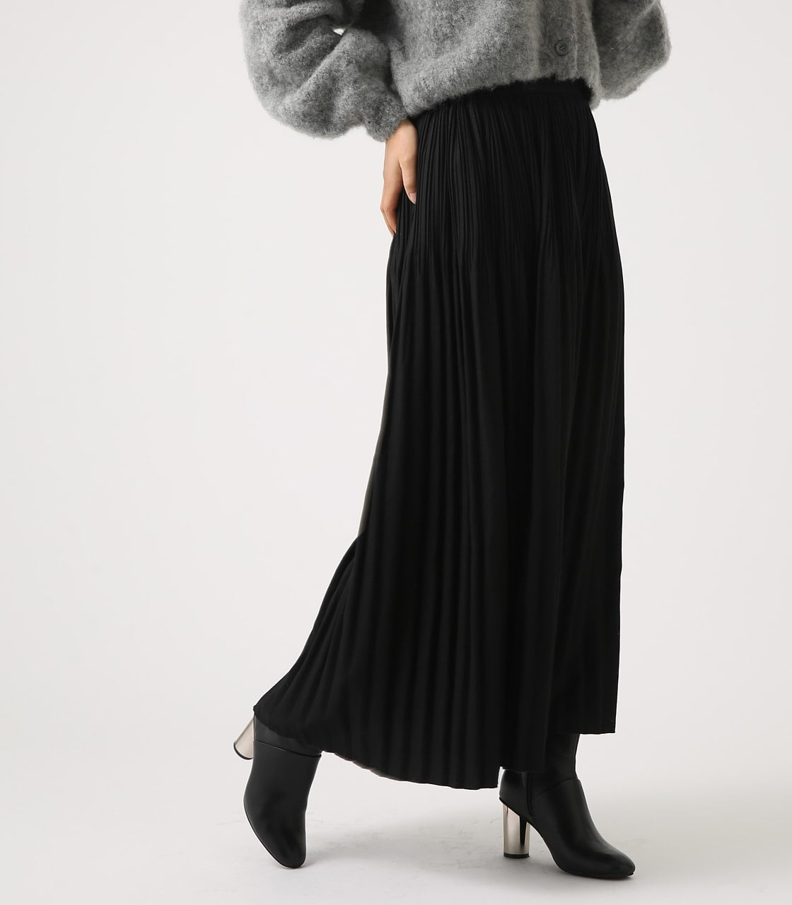 【AZUL BY MOUSSY】ベーシックプリーツスカート 詳細画像 BLK 2