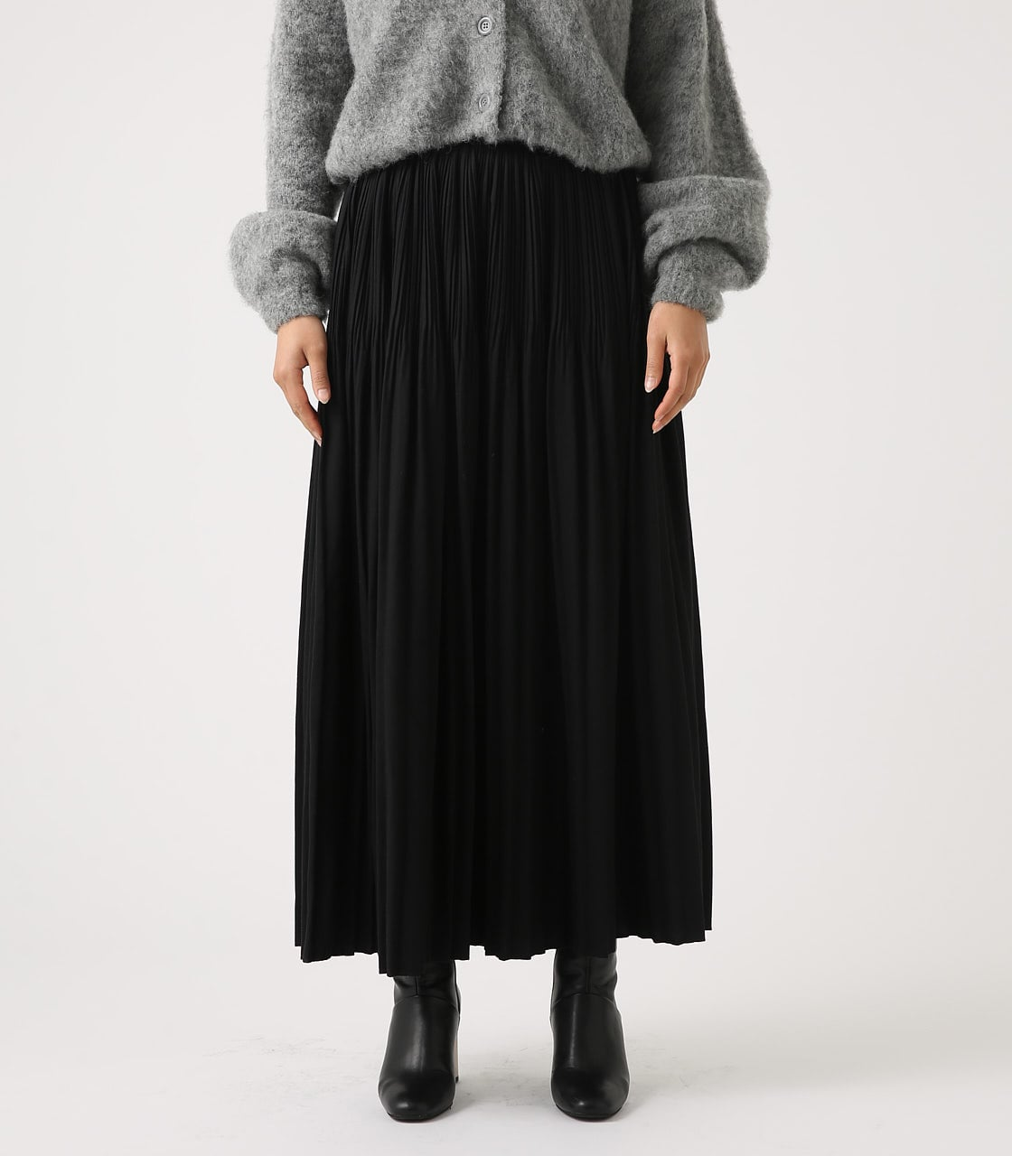 【AZUL BY MOUSSY】ベーシックプリーツスカート 詳細画像 BLK 5