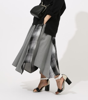 【AZUL BY MOUSSY】CRAZY PATTERN CHECK SKIRT