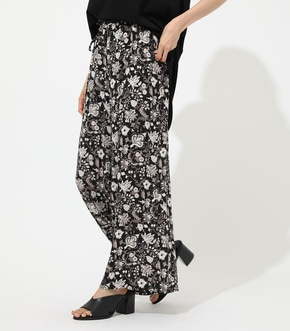 【AZUL BY MOUSSY】ETHNIC FLOWER WIDE PANTS