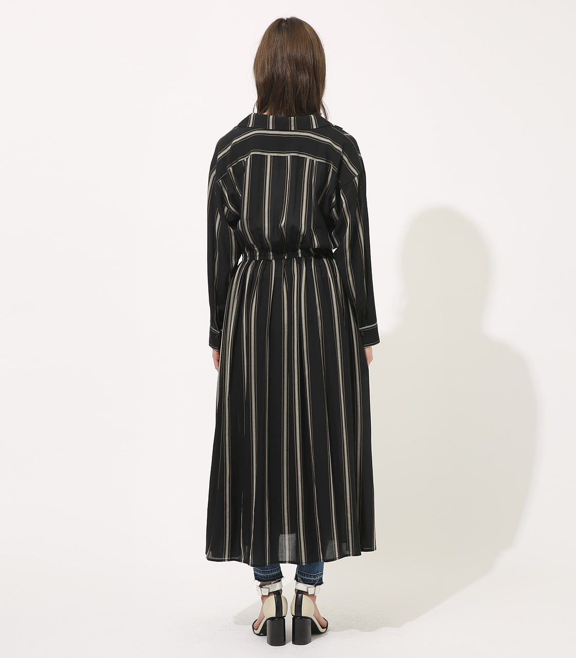 【AZUL BY MOUSSY】BROWSING MAXI ONEPIECE 【MOOK49掲載 90037】 詳細画像 柄BLK 5