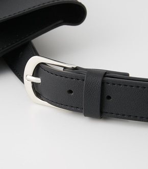 【AZUL BY MOUSSY】SQUARE BUCKLE PORCH SET BELT 詳細画像