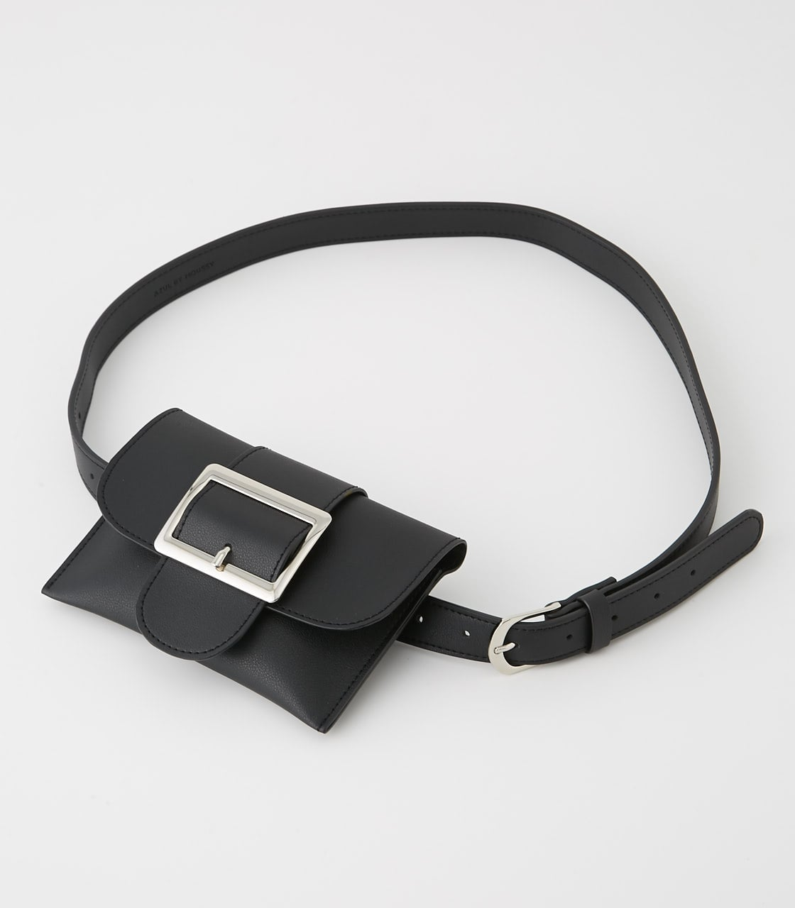 【AZUL BY MOUSSY】SQUARE BUCKLE PORCH SET BELT 詳細画像 BLK 1