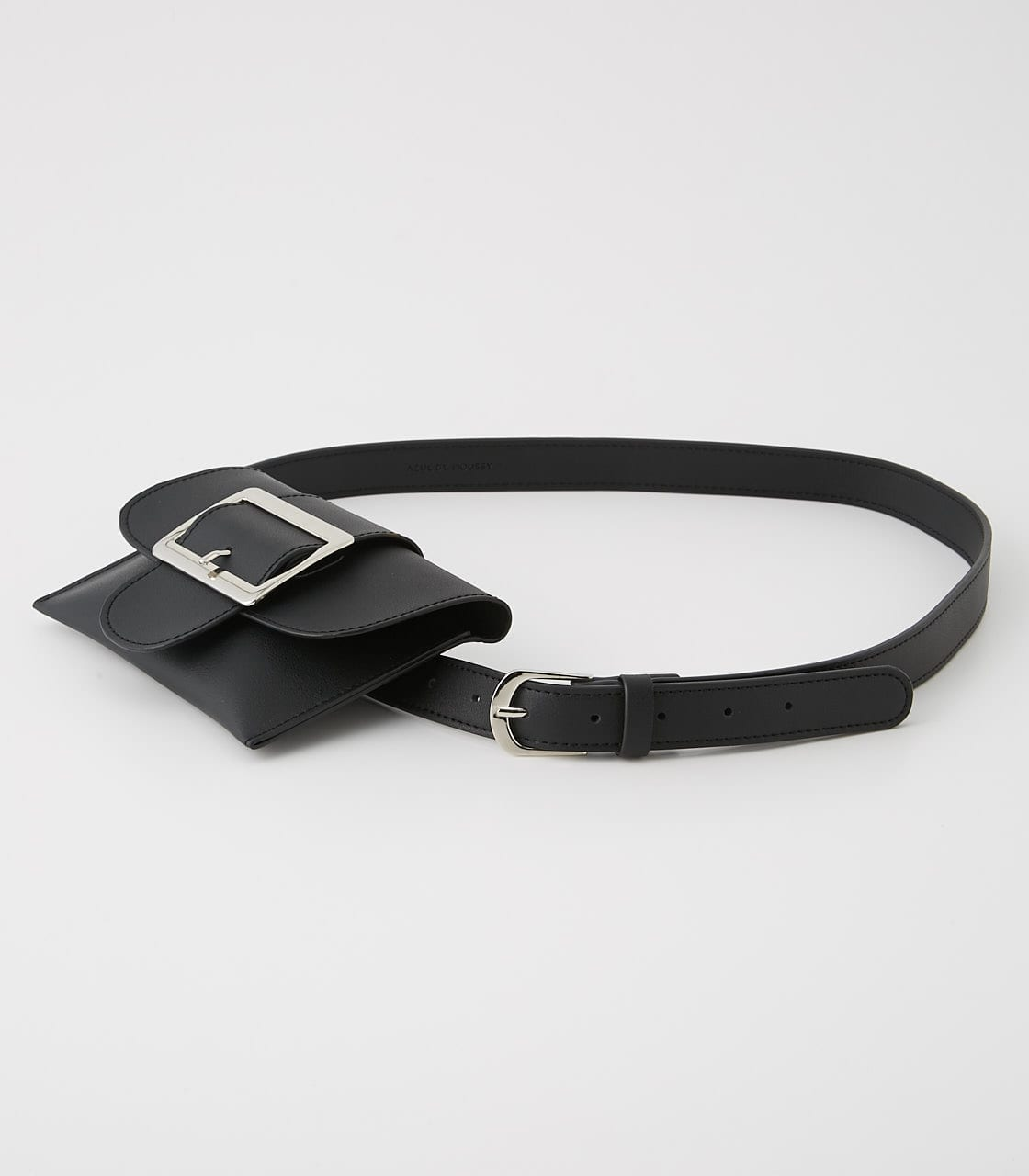 【AZUL BY MOUSSY】SQUARE BUCKLE PORCH SET BELT 詳細画像 BLK 2