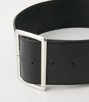 【AZUL BY MOUSSY】SQUARE BUCKLE WIDE BELT 詳細画像