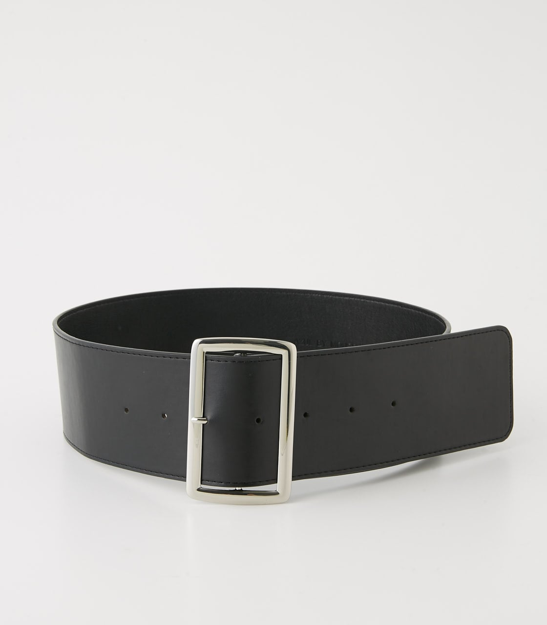 【AZUL BY MOUSSY】SQUARE BUCKLE WIDE BELT 詳細画像 BLK 1