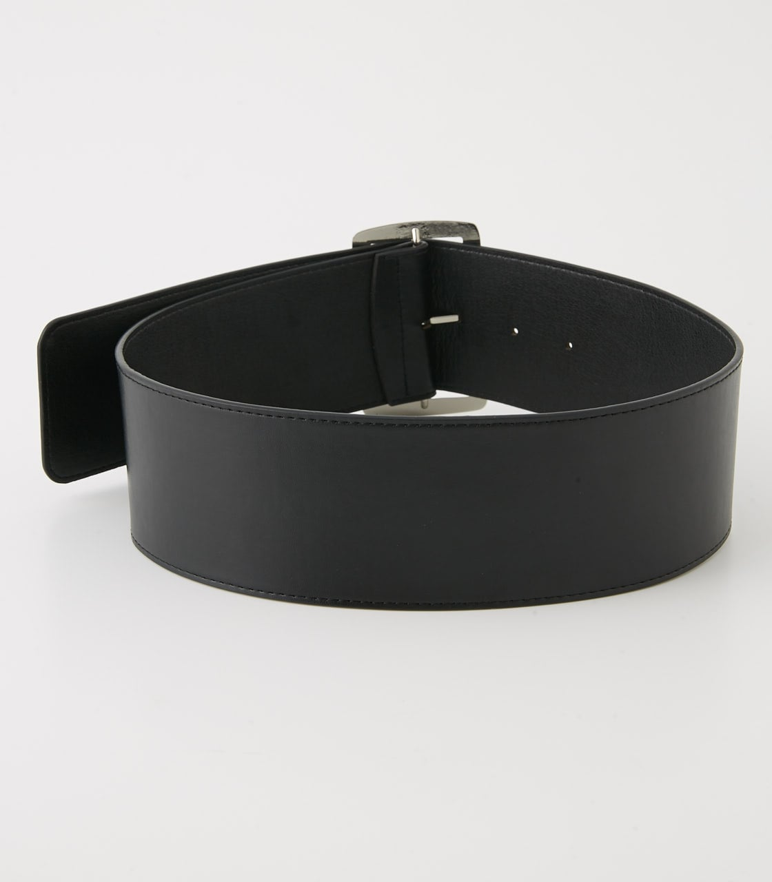 【AZUL BY MOUSSY】SQUARE BUCKLE WIDE BELT 詳細画像 BLK 3
