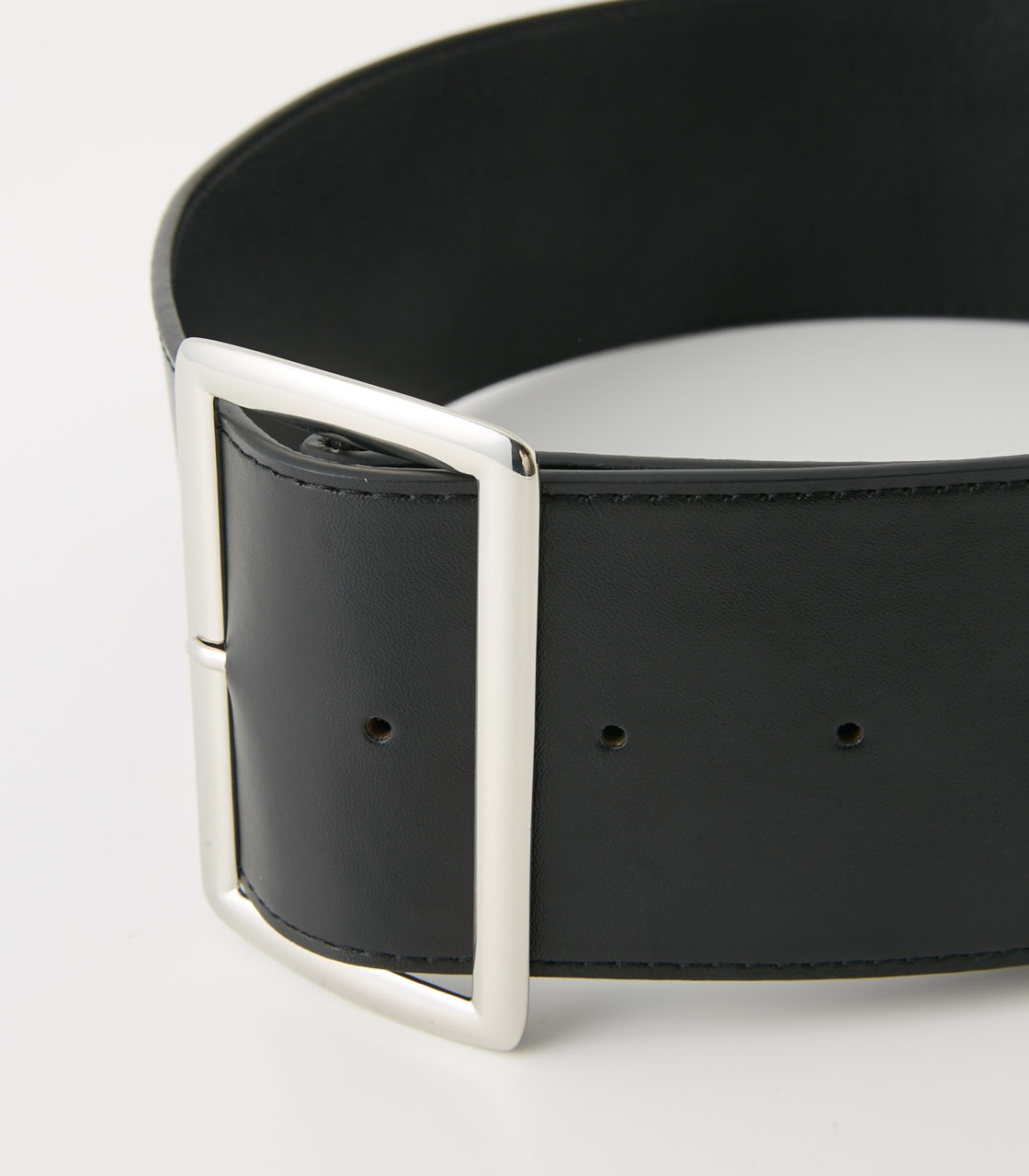 【AZUL BY MOUSSY】SQUARE BUCKLE WIDE BELT 詳細画像 BLK 4