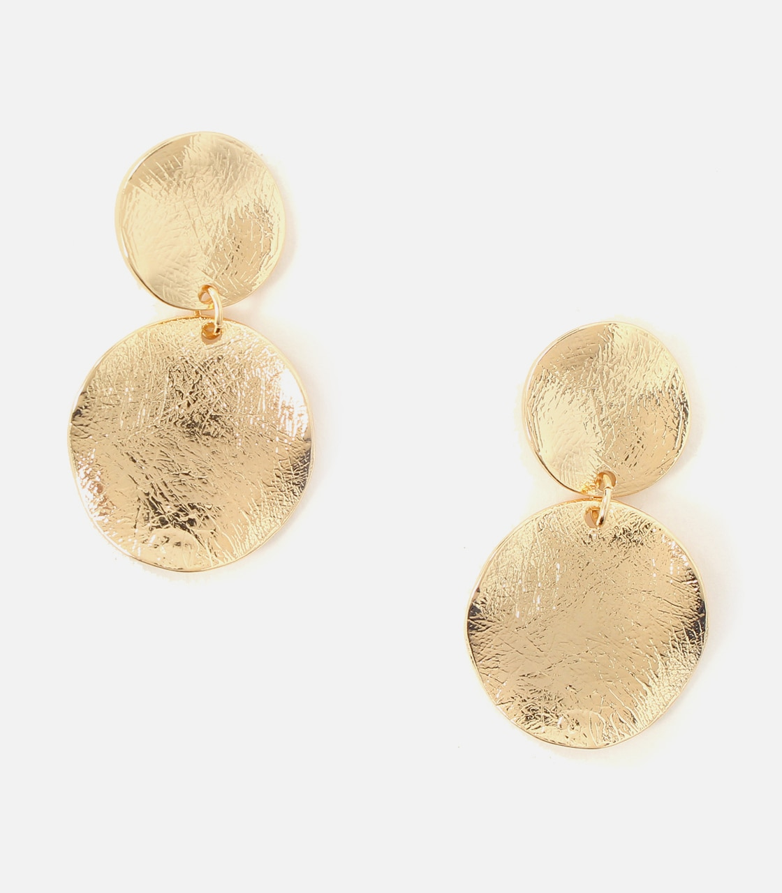 【AZUL BY MOUSSY】BUMPY MERAL ROUND EARRINGS 詳細画像 L/GLD 1