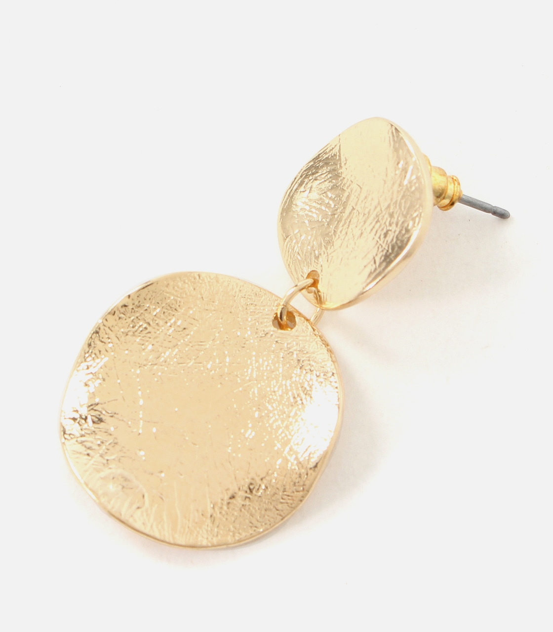 【AZUL BY MOUSSY】BUMPY MERAL ROUND EARRINGS 詳細画像 L/GLD 4
