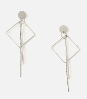 【AZUL BY MOUSSY】SQUARE NARROW BAR EARRINGS