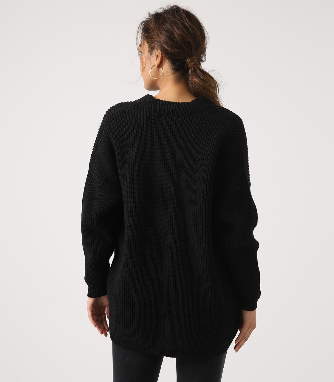【AZUL BY MOUSSY】LOWGAUGE LONG KNIT CARDIGAN 詳細画像 BLK 7