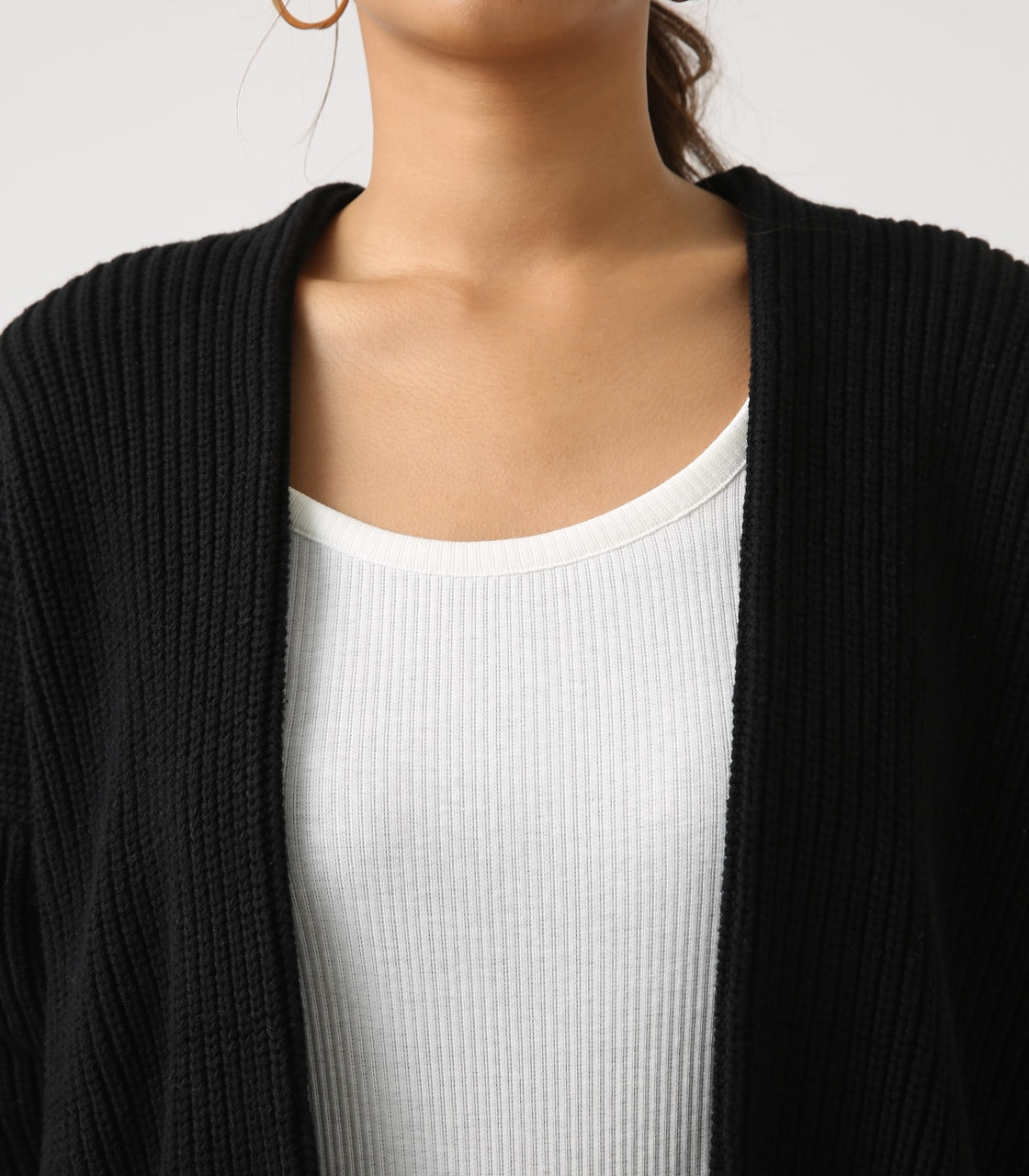 【AZUL BY MOUSSY】LOWGAUGE LONG KNIT CARDIGAN 詳細画像 BLK 8