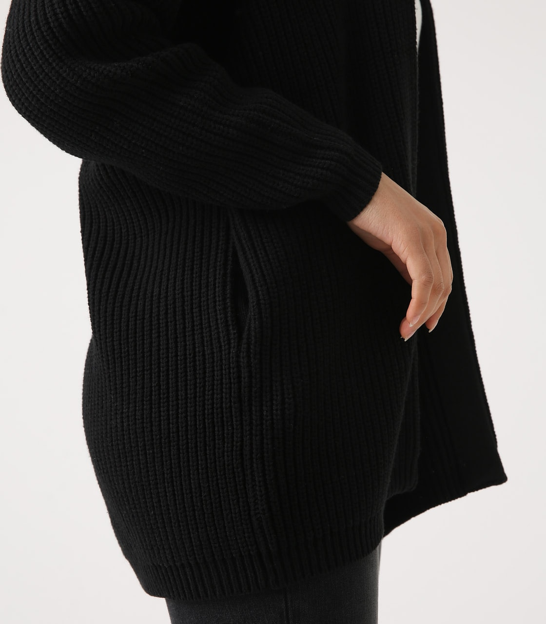 【AZUL BY MOUSSY】LOWGAUGE LONG KNIT CARDIGAN 詳細画像 BLK 9