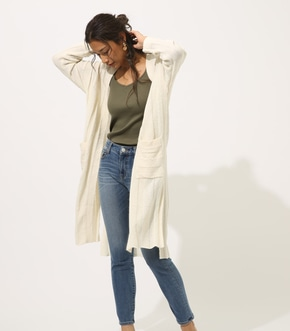【AZUL BY MOUSSY】Wide rib cardigan
