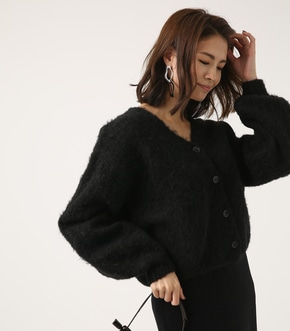 【AZUL BY MOUSSY】2WAY 起毛カーディガン