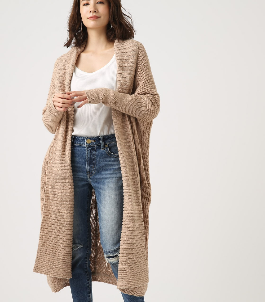 BIG SHAWL TOPPER CARDIGAN 詳細画像 BEG 1